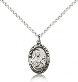 St. Theresa Medal, Sterling Silver [BL5625]