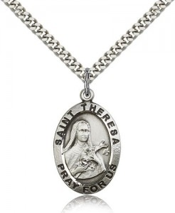 St. Theresa Medal, Sterling Silver [BL5673]