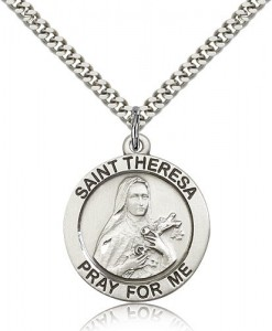 St. Theresa Medal, Sterling Silver [BL5769]