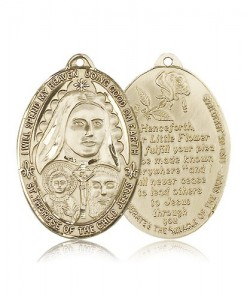St. Therese Medal, 14 Karat Gold [BL5998]