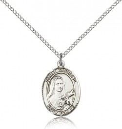 St. Therese of Lisieux Medal, Sterling Silver, Medium [BL3767]
