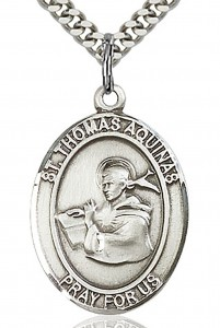 St. Thomas Aquinas Medal, Sterling Silver, Large [BL3784]
