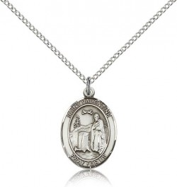 St. Valentine of Rome Medal, Sterling Silver, Medium [BL3848]