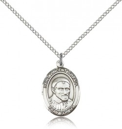 St. Vincent De Paul Medal, Sterling Silver, Medium [BL3884]