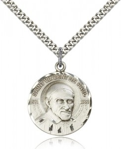 St. Vincent De Paul Medal, Sterling Silver [BL4947]