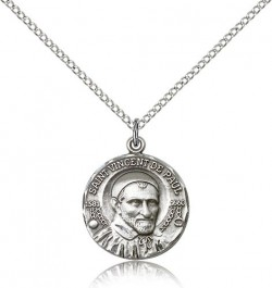 St. Vincent De Paul Medal, Sterling Silver [BL5129]