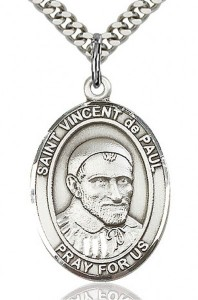 St. Vincent de Paul Medal, Sterling Silver, Large [BL3883]