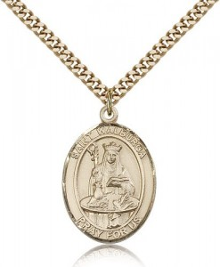 St. Walburga Medal, Gold Filled, Large [BL3907]