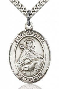 St. William of Rochester Medal, Sterling Silver, Large [BL3937]