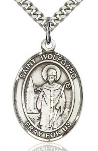 St. Wolfgang Medal, Sterling Silver, Large [BL3946]