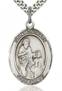 St. Zachary Medal, Sterling Silver, Large [BL3955]