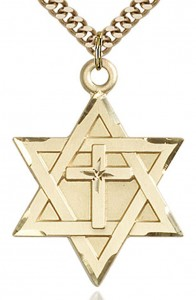 Star of David with Cross Pendant, Gold Filled [BL5154]