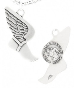Winged Foot Track Necklace with Necklace Sebastian Back in Sterling Silver [HMS1106]
