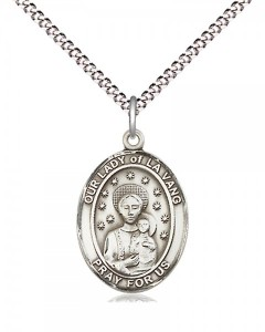 Women's Pewter Oval Our Lady of La Vang Medal [BLPW542]