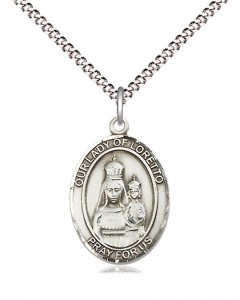 Women's Pewter Oval Our Lady of Loretto Medal [BLPW510]