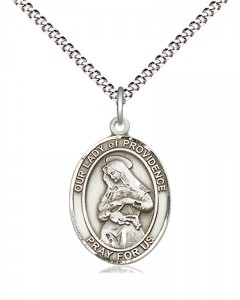 Women's Pewter Oval Our Lady of Providence Medal [BLPW515]