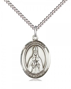 Women's Pewter Oval St. Blaise Medal [BLPW416]