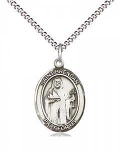 Women's Pewter Oval St. Brendan the Navigator Medal [BLPW424]