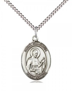 Women's Pewter Oval St. Camillus of Lellis Medal [BLPW426]