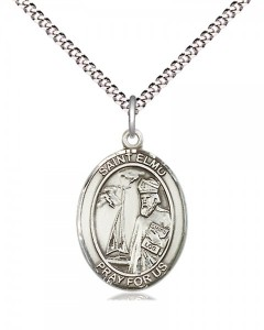 Women's Pewter Oval St. Elmo Medal [BLPW445]