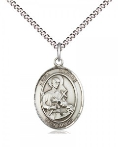 Women's Pewter Oval St. Gerard Majella Medal [BLPW462]