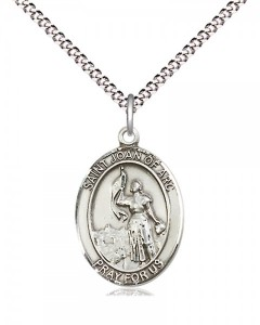 Women's Pewter Oval St. Joan of Arc Medal [BLPW472]