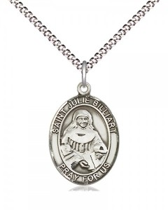 Women's Pewter Oval St. Julie Billiart Medal [BLPW544]