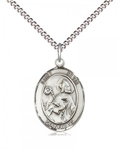 Women's Pewter Oval St. Kevin Medal [BLPW483]