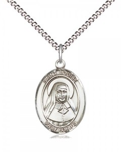 Women's Pewter Oval St. Louise De Marillac Medal [BLPW485]