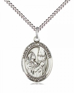 Women's Pewter Oval St. Mary Magdalene Medal [BLPW492]