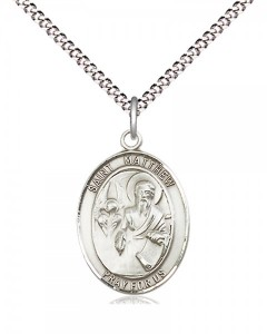 Women's Pewter Oval St. Matthew the Apostle Medal [BLPW495]