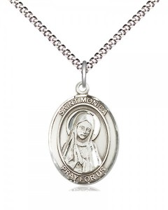 Women's Pewter Oval St. Monica Medal [BLPW507]