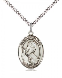 Women's Pewter Oval St. Philomena Medal [BLPW505]