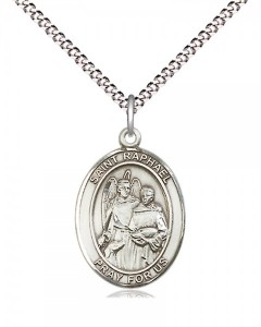 Women's Pewter Oval St. Raphael the Archangel Medal [BLPW520]