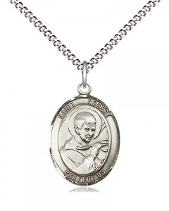 Women's Pewter Oval St. Robert Bellarmine Medal [BLPW524]