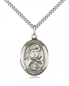 Women's Pewter Oval St. Sarah Medal [BLPW525]