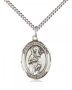 Women's Pewter Oval St. Scholastica Medal [BLPW526]