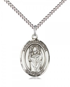 Women's Pewter Oval St. Stanislaus Medal [BLPW555]