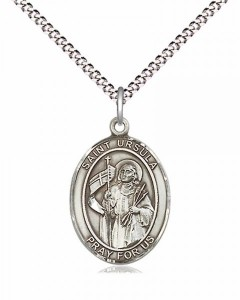 Women's Pewter Oval St. Ursula Medal [BLPW558]