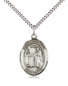 Women's Pewter Oval St. Valentine of Rome Medal [BLPW552]