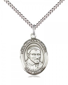 Women's Pewter Oval St. Vincent De Paul Medal [BLPW564]
