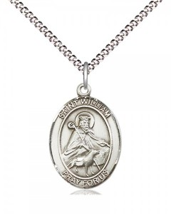 Women's Pewter Oval St. William of Rochester Medal [BLPW541]